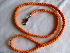 Reflective Orange Paracord Dog Leash by 2000Pennies on Etsy, $14.00