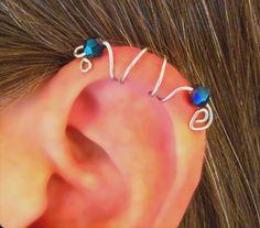 No Piercing Seahorse Ear Cuff Helix Cuff by WolfandFirefly on Etsy