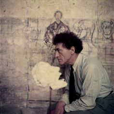 size: Premium Photographic Print: Portrait of Alberto Giacometti in His Studio : Fine Art Alberto Giacometti, Gagosian Gallery, Workshop, Portraits, Portrait Paintings, Peter Lindbergh, People Of Interest, Chur, Art Moderne