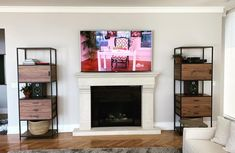 TV Installation Service Toronto. #tvinstallationservice Tv Wall Mount Installation, Home Theater Installation, Tv Mount Over Fireplace, 75 Inch Tvs, Tv Mounting, Hide Cables, Home Theater Rooms, Marble Wall, Wall Mounted Tv