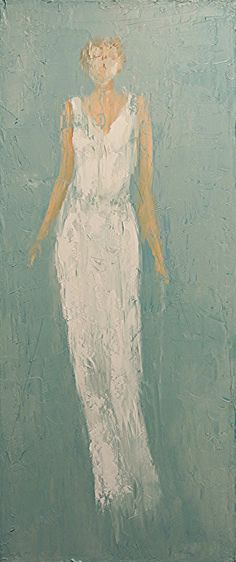 Andrea - 30x12 Oil on Canvas by Fine Artist Rene Romero Schuler