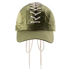 """<p>Lace yourself up with sporty elegance in FENTY PUMA by Rihanna's new Lace-Up Cap. The all-satin cap's glossy """"upper"""" laces down the middle, front-to back, underlain by a long satin tongue with suede PUMA logo to keep the street look legit.</p><p>Features</p><ul><li>All satin cap</li><li>Rich, extra-long laces</li><li>Suede PUMA logo patch on tongue</li></ul..."""