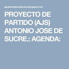 PROYECTO DE PARTIDO (AJS) ANTONIO JOSE DE SUCRE.: AGENDA: