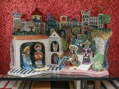 Creche created by Tunsi Girard, 1957, the brother of Alexander Girard #creche #christmasdecorations