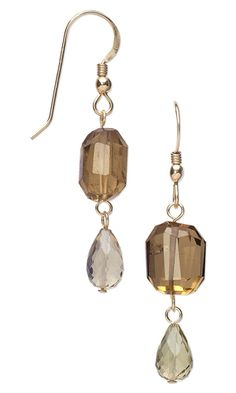 Earrings with Golden Quartz Gemstone Beads - Fire Mountain Gems and Beads