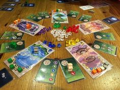 Mystery of the Temples game Solo Card Games, Temple Game, Pnp Games, Board Game Design, Family Night, Card Maker, Game Night, Temples, Minis