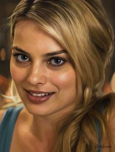 Portrait of actress Margot Robbie