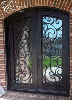 Wrought iron front door.