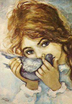 Remember these from my childhood - artist Muszynska-Zamorska Nautical Art, Explore Travel, Love Illustration, Decoupage Paper, Pastel Drawing, Portrait Inspiration, Portraits, Beautiful Children, Beautiful Paintings