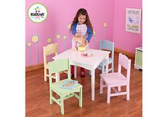 Shop for a Little Nantucket White and Pastel Table and Chair Set at Rooms To Go Kids. Find that will look great in your home and complement the rest of your furniture.