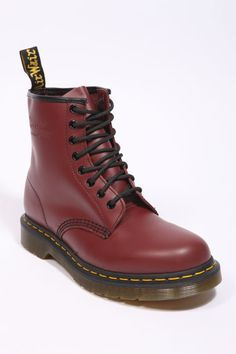 Dr. Martens 1460 Red Boots. do want!