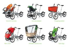 Taga Bike add-on accessories make it versatile for families