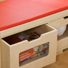 Guidecraft Easy View Storage Bench - Toy Storage at Hayneedle
