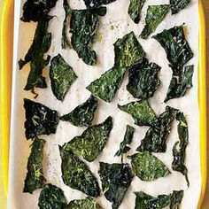Kale Chips-- Once you see how easy it is to make homemade kale chips, you'll never buy the store-bought variety again. Get creative and experiment with different flavors like lemon-pepper or black pepper.