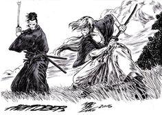 Musashi vs Kenshin by Maxwell Duarte by madmaxsol.deviantart.com on @DeviantArt