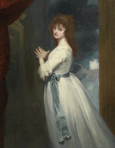 """George Romney PORTRAIT OF MRS. JORDAN AS PEGGY IN """"THE COUNTRY GIRL"""""""
