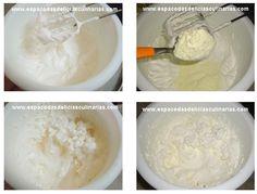 Chantilly com leite ninho 500 ml de preparado para chantilly 3 colheres de sopa de leite ninho  Modo de preparo:  Bater o preparo até quase o ponto de chantilly Acrescente o leite ninho e bata mais um pouco, até dar o ponto de chantilly