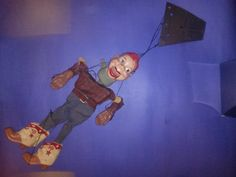 WHAT!  This is not a Hazelle's Marionette!  Well, I knew that when I bid on it.  I am including this #Howdy_Doody made by Peter Puppet Playthings because he was included in the auction for 308 Sailor and 309 Pirate. Purchased by online auction ending February 9, 2015 for $15.82 including shipping.  I have bought and sold one like it 20+ years ago (pre-Internet) for $150, Mint in VG+ box.  Even in this condition (damaged sleeve) this is worth quite a bit more than what I paid.