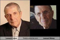 Leonard Cohen Totally Looks Like Leonard Nimoy: