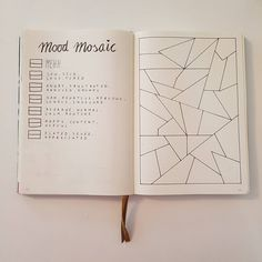 Creative Inspiration: Mosaic Mood Tracker. Bujo spreads Planner ideas bullet journal trackers (@bujojanne) #bulletjournal #bujotracker