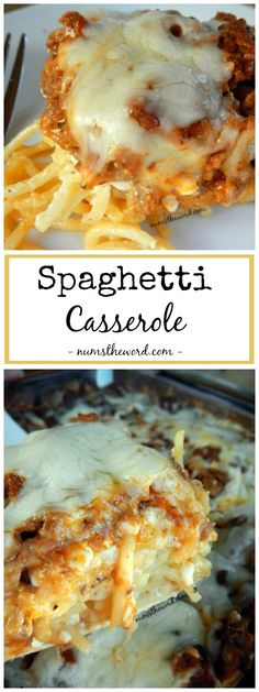 *VIDEO* This spaghetti casserole is an easy weeknight dish that also make a great freezer meal. Simple, kid friendly and delicious. Plus, it reheats well too! #spaghetti #casserole #spaghetticasserole #dinner #maindish #hotdish #spaghetti #groundbeef #beef #numstheword #video #recipe