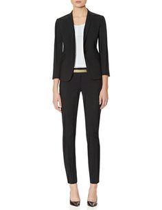 Love the skinny pants look with a jacket. Exact Stretch Wide Waistband Skinny Pants