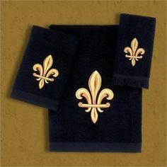 1000 images about marshall on pinterest fleur de lis catalog and decoration - Fleur de lis bath towels ...