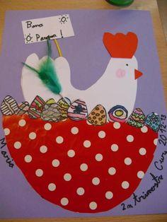 chicken on nest Tapas, Easter Art, Easter Crafts, First Day School, Down On The Farm, Spring Art, Album, Preschool Crafts, Teaching Kids