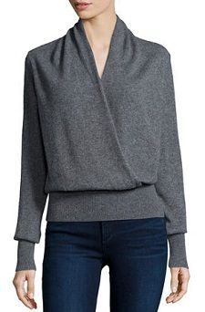 Love Cashmere. I also think this cut might be flattering but in something with more color than gray (jewel tones).