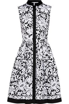 printed dress / oscar de la renta