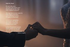 Hold my hand is an inspirational poem by Robert Longley about alzheimer's, inspired by Tony Bennett and Lady Gaga's relationship Hold My Hand, Hold On, Tony Bennett, Inspirational Poems, Poetry Books, Lady Gaga, Relationship, Hands, Inspired
