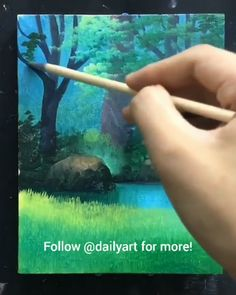 Grande arte por ID: (Döuyin) - Painting - Arte Acrylic Painting Techniques, Painting Videos, Painting Lessons, Art Techniques, Art Lessons, Art Sketches, Art Drawings, Sketch Drawing, Acrylic Art