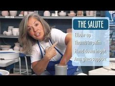 How to Throw a Cylinder with The Clay Lady - YouTube