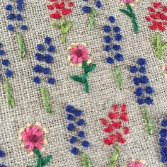 Such a dreary day in Austin. Stitching wildflowers and dreaming of a warm spring. #happycactusembroidery