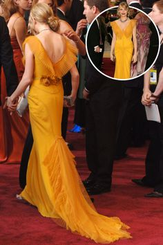 The best red carpet dresses from the back: Michelle Williams in Vera Wang at the 2006 Academy Awards.