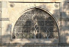 tree of life screen at the Sidi Sayeed Mosque