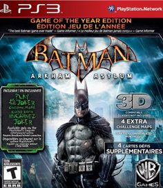 Batman: Arkham Asylum (Game of the Year Edition) --- http://www.amazon.com/Batman-Arkham-Asylum-Edition-Playstation-3/dp/B003C1I06U/ref=sr_1_9/?tag=clickbankc085-20