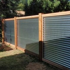 galvanized fence - from Twist my Armoire blog
