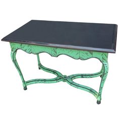A faux tortoise shell center table with a Belgian marble top. The table is finished on all four sides. We are always adding to our dibs invento. Center Table Living Room, Dining Table, Table Furniture, Antique Furniture, Small Bench, Marble Wood, Tortoise Shell, Art Decor, Home Decor