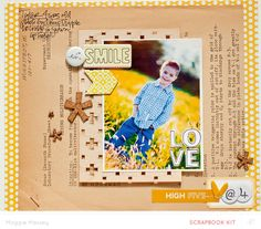 #papercraft #scrapbook #layout  tyler @ 4... layout by maggie massey at @Studio_Calico