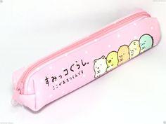 San-X SumiKKO gurashi Slim Pen Pouch Pink Bag Neko Shirokuma Tonkatsu Penguin