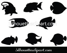 Coral Fish Silhouette Vector Download Free & Premium – Silhouettes Vector Fish Clipart, Fish Vector, Silhouette Clip Art, Silhouette Images, Vector File, Vector Graphics, Fish Graphic, Fish Crafts, Aquarium Fish