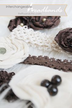 Thrifty and Chic - DIY Projects and Home Decor  interchangeable flower headband tutorial