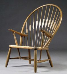 All famous architects have their famous chair. Design with a sense of humour Hans Wegner: Peacock Chair Modern Furniture, Furniture Design, Outdoor Furniture, Danish Furniture, Chair Design, Furniture Ideas, Bean Bag Chairs Canada, Interior Styling, Interior Decorating