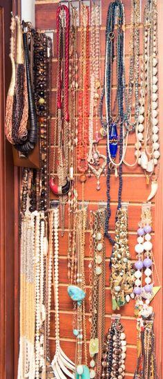 necklace organization--Jessica Alba | The CoveteurThe Coveteur