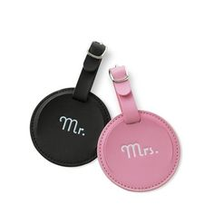 Mr. & Mrs. Honeymoon Luggage Tag Set    The happy couple's honeymoon is just the start of the journeys they'll take together as Mr. and Mrs. This matching his-and-hers luggage tag set not only officially marks their adventures as a married couple, but will help keep their bags safe during future travels.