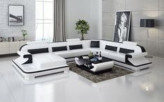 Large Sectional Sofa, Modern Sectional, Leather Sectional, Sofa Set, Chaise Sofa, Living Room Sets, Bedroom Sets, Living Spaces, Modern Furniture
