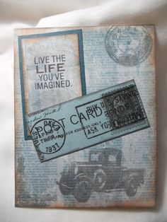 Nothin' Fancy: Used my new Tim Holtz stamps