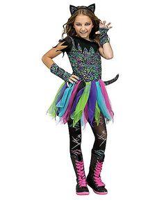 Kids Wild Rainbow Cat Costume - Spirithalloween.com