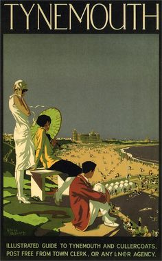 Tynemouth, Tyne and Wear. Vintage LNER Travel Poster by Alfred Lambert Posters Uk, Train Posters, Railway Posters, British Travel, Travel Uk, National Railway Museum, Retro Poster, Just Dream, Advertising Poster